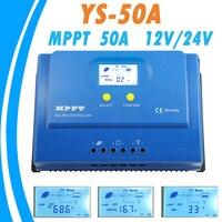 PowMr MPPT 50A солнечный регулятор 12 В 24 В Подсветка ЖК дисплей Дисплей Панели солнечные контроллер MPPT для Max 150 В Вход двойной 5 В USB Выход