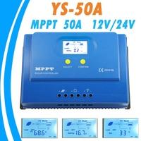 PowMr MPPT 50A Solar Controller 12V 24V Backlight LCD Display MPPT Solar Panel Controller for Max 150V Input Dual 5V USB Output