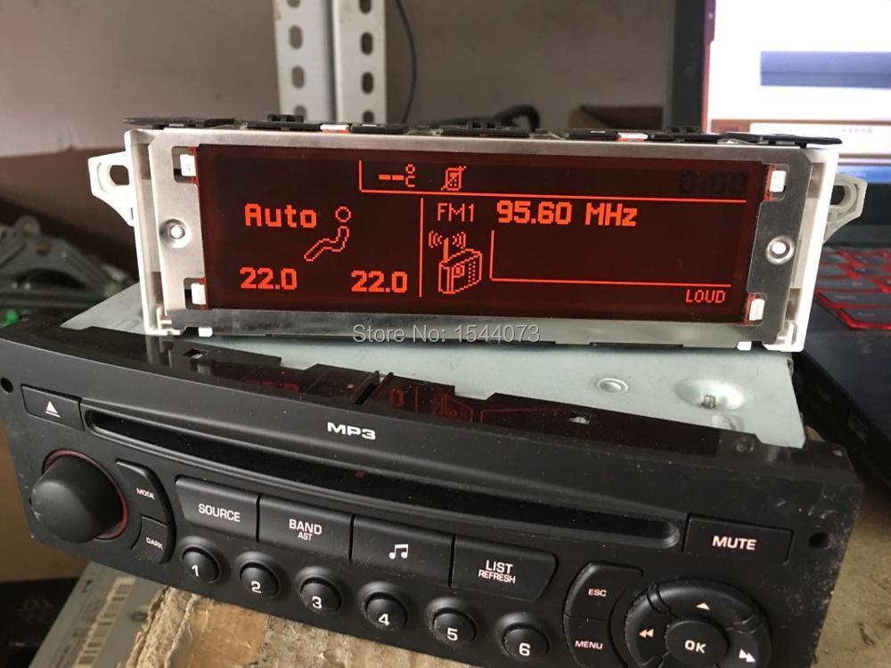 Support d'écran USB + double zone Air Bluetooth moniteur d'affichage rouge 12 broches pour Peugeot 307 407 408 citroën C4 C5