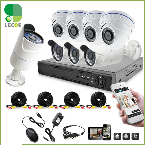 CCTV 8CH surveillance AHD 1080P DVR System video recorder security 2.0MP AHD camera +HDD Hard Disk Drive 3.5