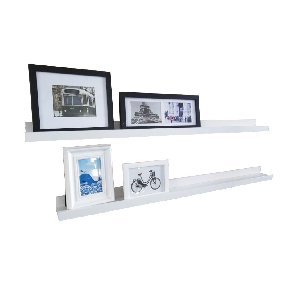 46 Inches Floating Picture Display Ledge Wall Mount Shelf Denver Modern Design White