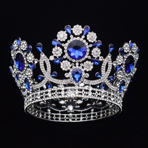 Image 4 - Grande casamento de cristal tiara coroa noiva headpiece feminino rainha baile diadem ornamentos cabelo cabeça jóias acessórios