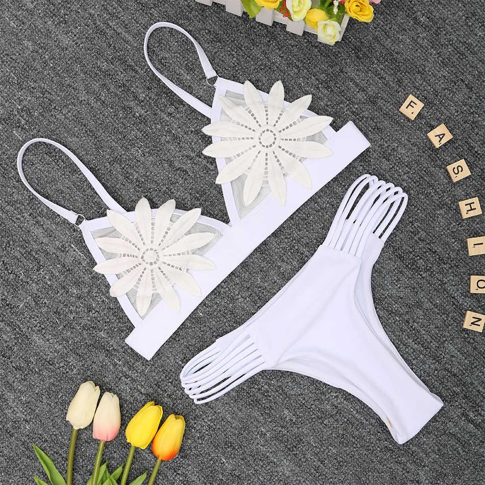 2019 Новый бандаж сексуальное бикини женский купальник пуш-ап бикини набор Бразильский купальный пляжный костюм одежда Maillot De Bain Femme