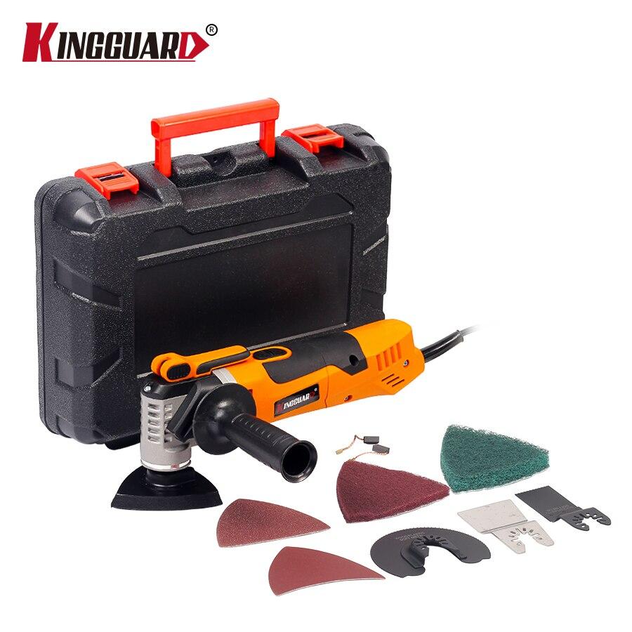 KINGGUARD Oscillant Trimmer Rénovation Outil Avec la Boîte Trimmer bois Multifonction Électrique Vu Rénovateur Outil