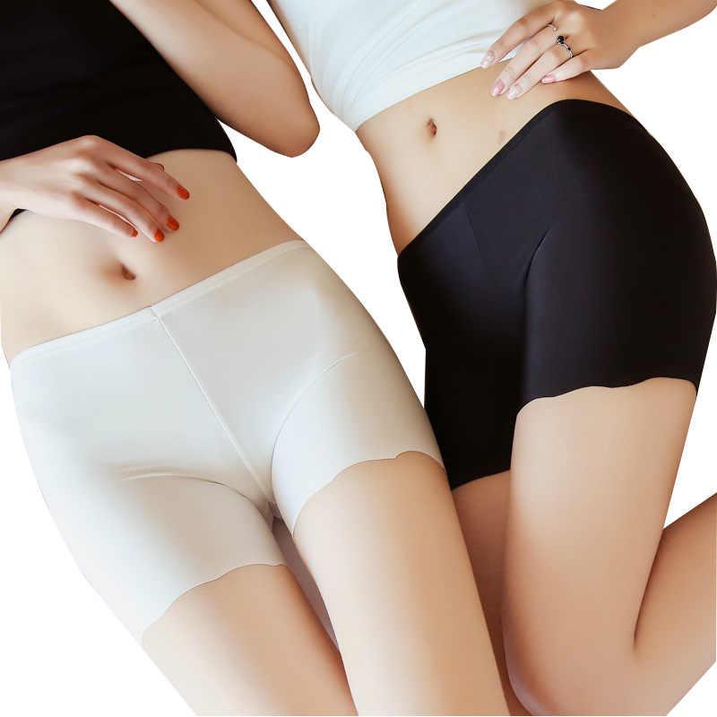 Summe Mulheres Boyshorts Calças 4Way do Estiramento das Mulheres Sem Costura Cuecas Boxer Menino Shorts Mid-Comprimento Do cinto de Segurança de Segurança Cueca Boxer breve
