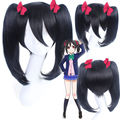 HOT New Arrive straight synthetic Love Live! Nico Yazawa black Cosplay Wigs