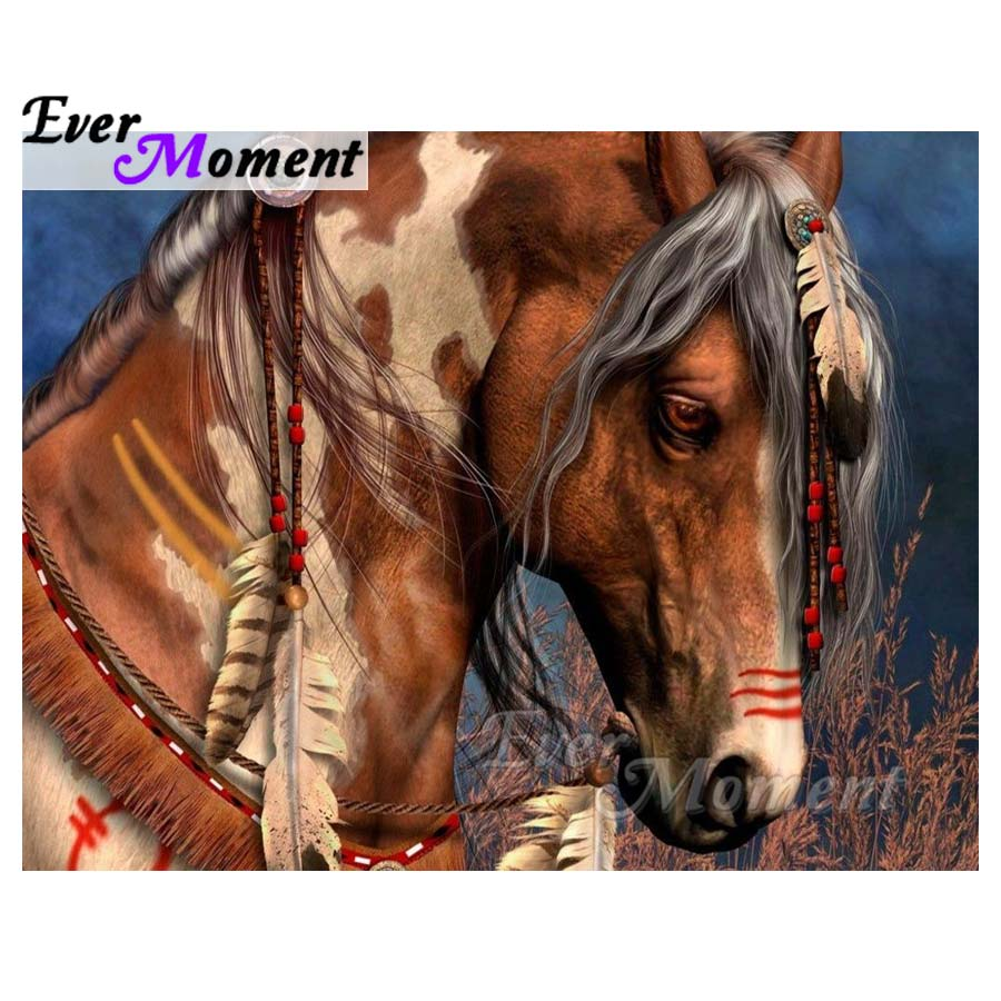 Ever Moment Home Decoration Diamond Painting Horse Full Square Drill Diamond Embroidery 5D DIY Picture Mosaic Rhinestones S2F043Ever Moment Home Decoration Diamond Painting Horse Full Square Drill Diamond Embroidery 5D DIY Picture Mosaic Rhinestones S2F043