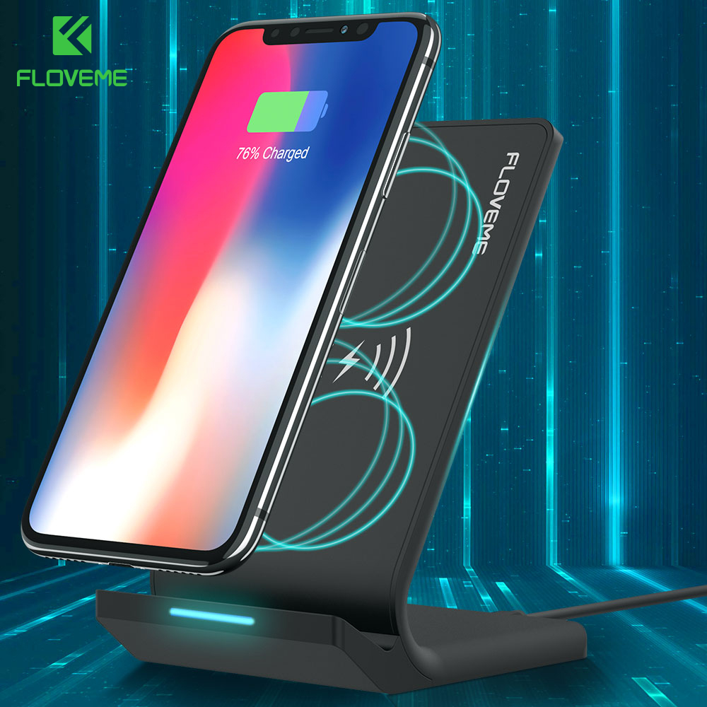 FLOVEME Qi Wireless Charger For iPhone X 8 Plus 10 For Samsung Galaxy S8 Note 8 S6 S7 Edge Wireless Charging Dock USB Charger
