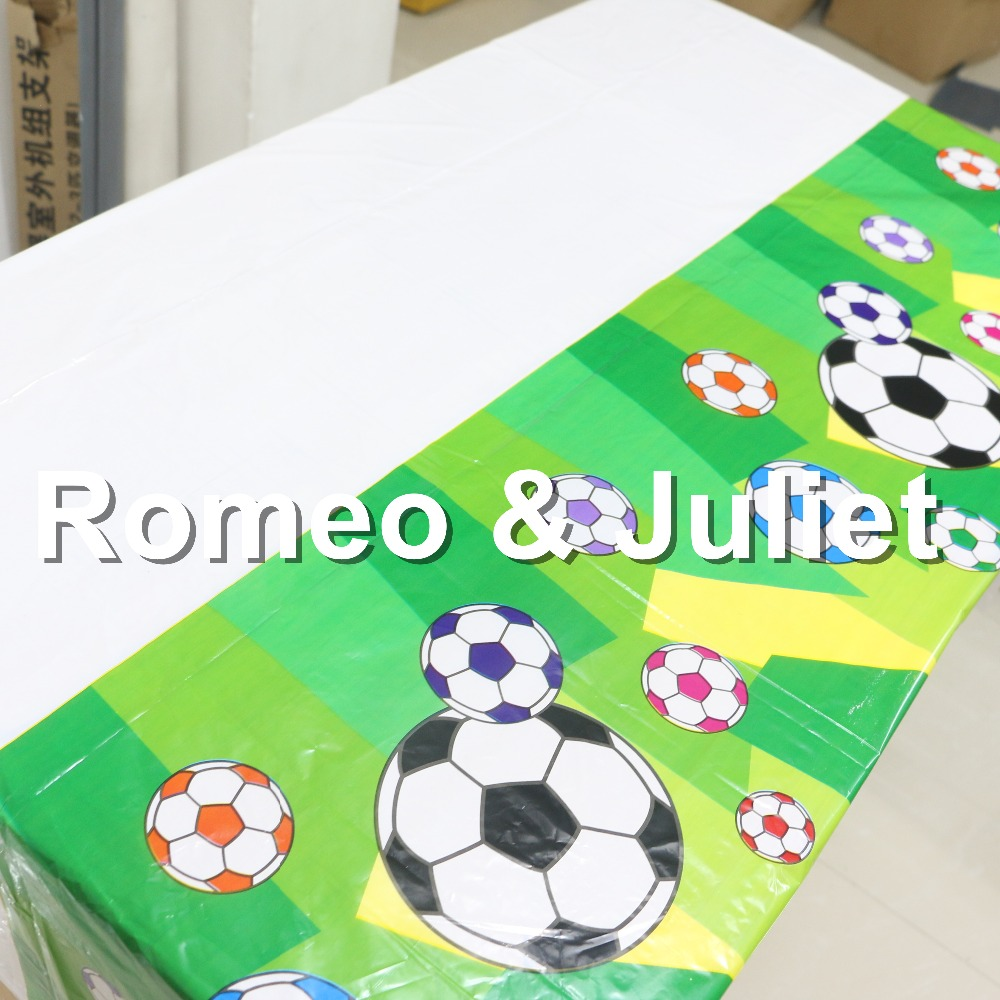 Papier Tischdecke Fussball 1 Stück Grün Football Thema Happy Birthday Party Dekoration