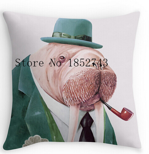 Cool Pillow Case Designs: Cool Art Design Walrus Green Pillow cases(two sides) for12 '14    ,