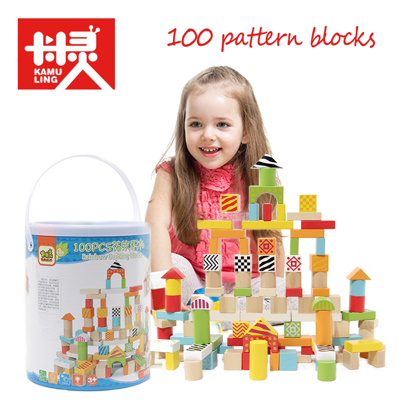 Colorful Wooden Building Blocks Toys Geometric Assemblin DIY Toy Children Intelligence Educational Balancing Blocks Wooden Toys super big wooden educational toy diy multicolour three dimensional building circle blocks set with pattern cards toys