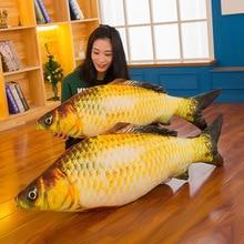 New Simulation Big Carp Fish Children Sleeping Cotton Throw Pillow Doll Plush Toys Home Sofa Car Seat Decoration Christmas Gift цена