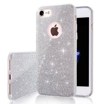 Glitter Clear Case iPhone 7 8 Full Protective Shock Proof PC TPU