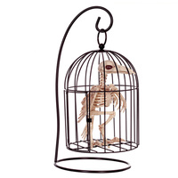 2018 Halloween Decoration Prop Skeleton Bird Cage Plastic Crow Animal Skeleton Bones for Horror Halloween Skeleton