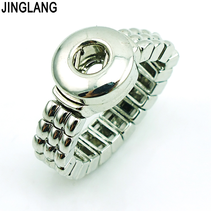 JINGLANG Brand New Fashion Interchangeable 12mm Ginger Snap Button Infinity Adjustable Rings Jewelry Free Shipping image