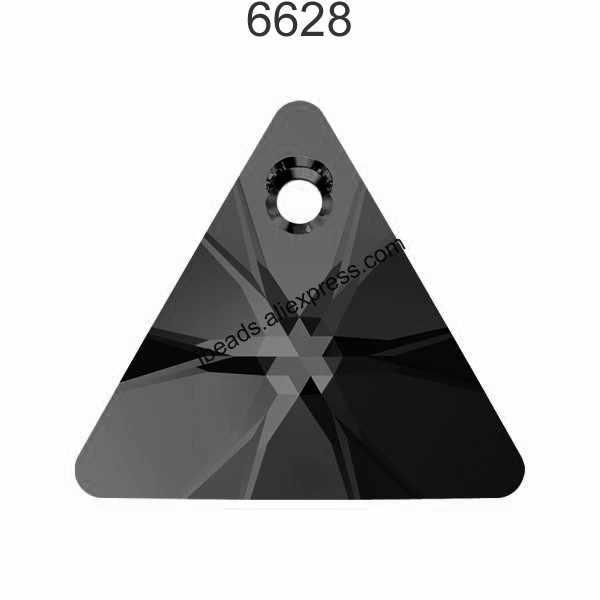 (1 pieza) 100% Original Cristal de Swarovski 6628 colgante triangular XILION de Austria cuentas de diamantes de imitación para hacer joyas DIY