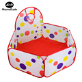 1m 1.2m 1.5m Baby Playpen With Basket Children Game Tent Portable Foldable Playpen Baby Cots For Pit Balls Funny Toys