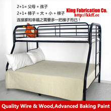 Factory price double layers iron bed iron bed furniture bed japanese bed