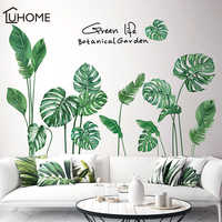 Tropical Leaves Wall Sticker DIY Nodic Style Plant Wall Decals for Living Room Bedroom Decoration Home Decor Sticker Wall Decals