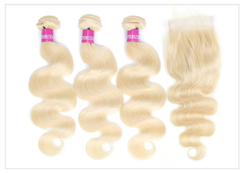 Blonde Bundles with 5x5 Closure (1)
