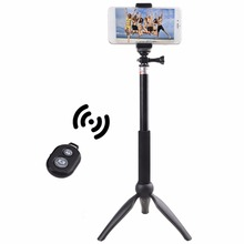 Universal 360 degree Rotation Selfie Stick Aluminum Alloy Wireless Bluetooth Remote Control Tripod Mobile Phones Selfie Monopod