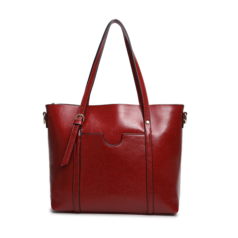 b7129244a9d1 2017 Hot Cow Leather Women Casual Tote bags Genuine Leather Shoulder Bag  Fashion Crossbody Bags Female Handbags Large Capacity