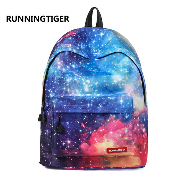 RUNNINGTIGER 2018 New Children School Bags Galaxy   Universe   Space  Printing Backpack For Teeange Girls 9958a695b4bd6
