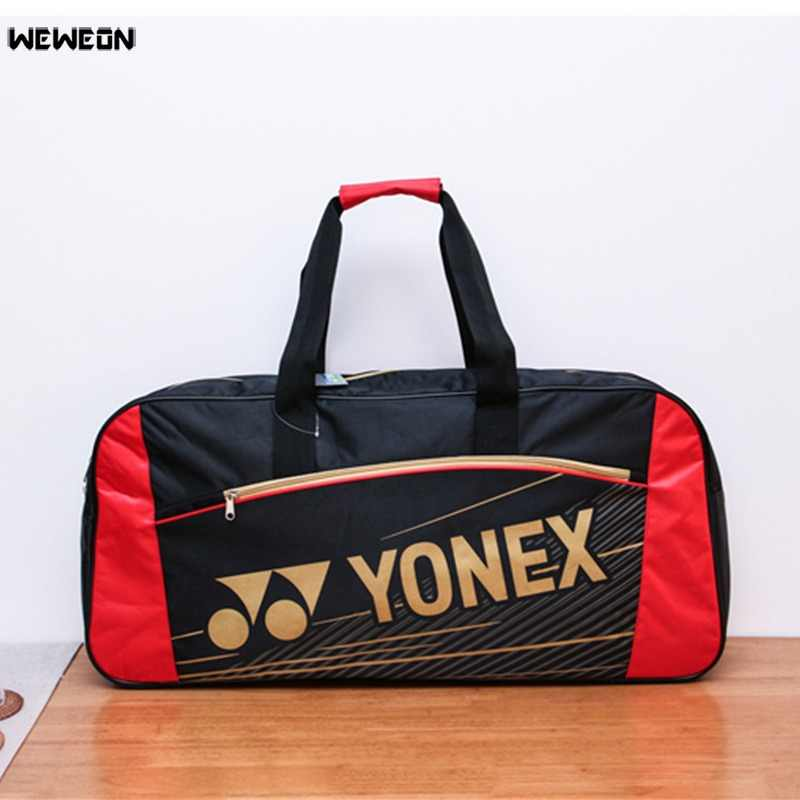 Tennis Bag Super Capacity Badminton Racket Bags Durable Sports Accessories Nylon 7-9 Pcs Racket Bag Multi-layer Racquet Handbag