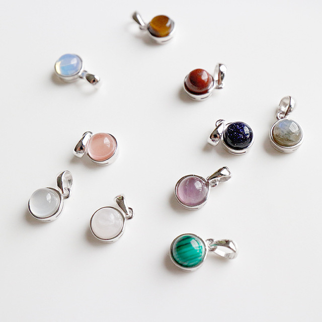 cf92dba9d Multi-color Semi-synthetic precious stones pendant necklace women colar  feminino, real sterling silver 925 necklaces jewelry