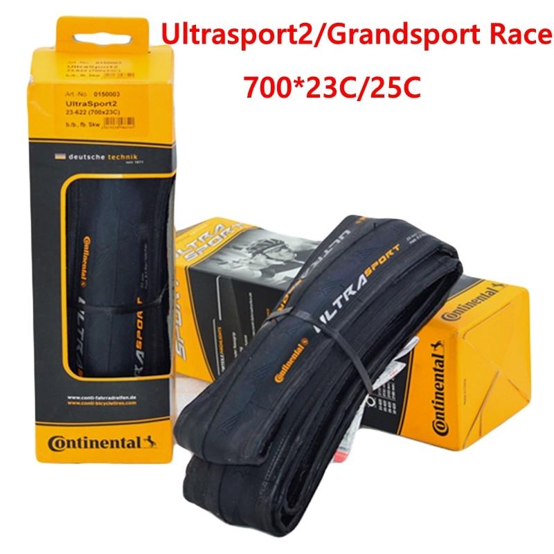 Continenta GrandSport Race UltraSport2 Road Bicycle Tire 700x23C 700*25C 28C 700C Cycling Fold Road Bike Tyre bicicleta pneu