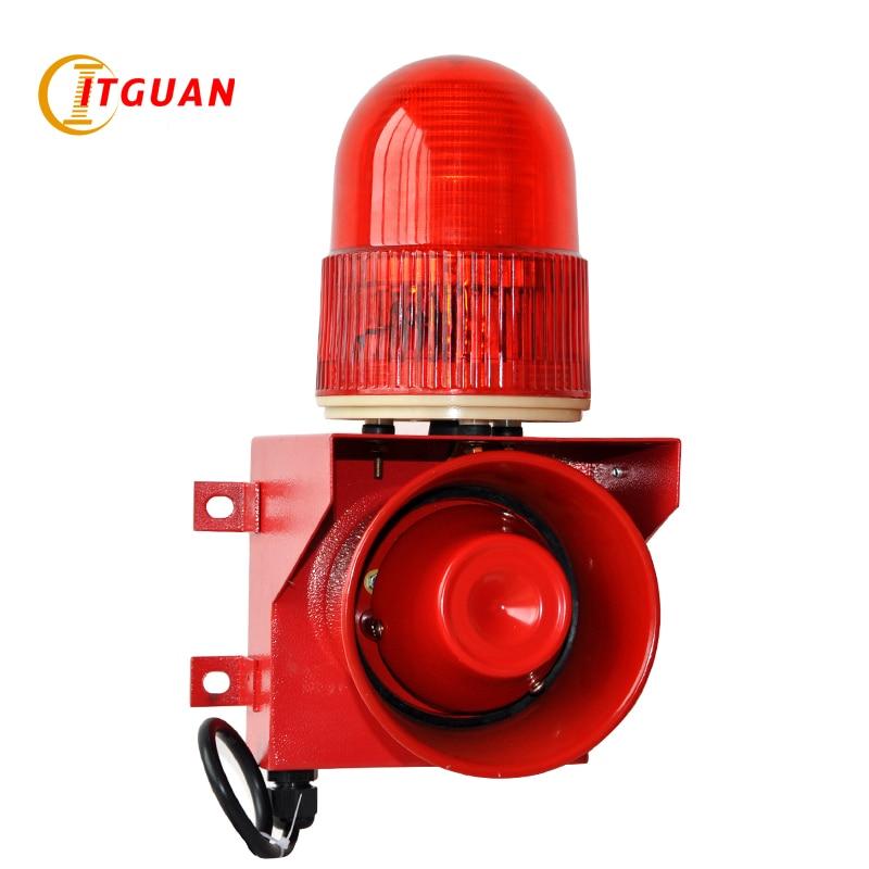 TGSG-01 115dB um tom de Som e luz de alarme kit de alarme sirene de alarme de segurança Industrial pode ser personalizado a sua voz luz intermitente