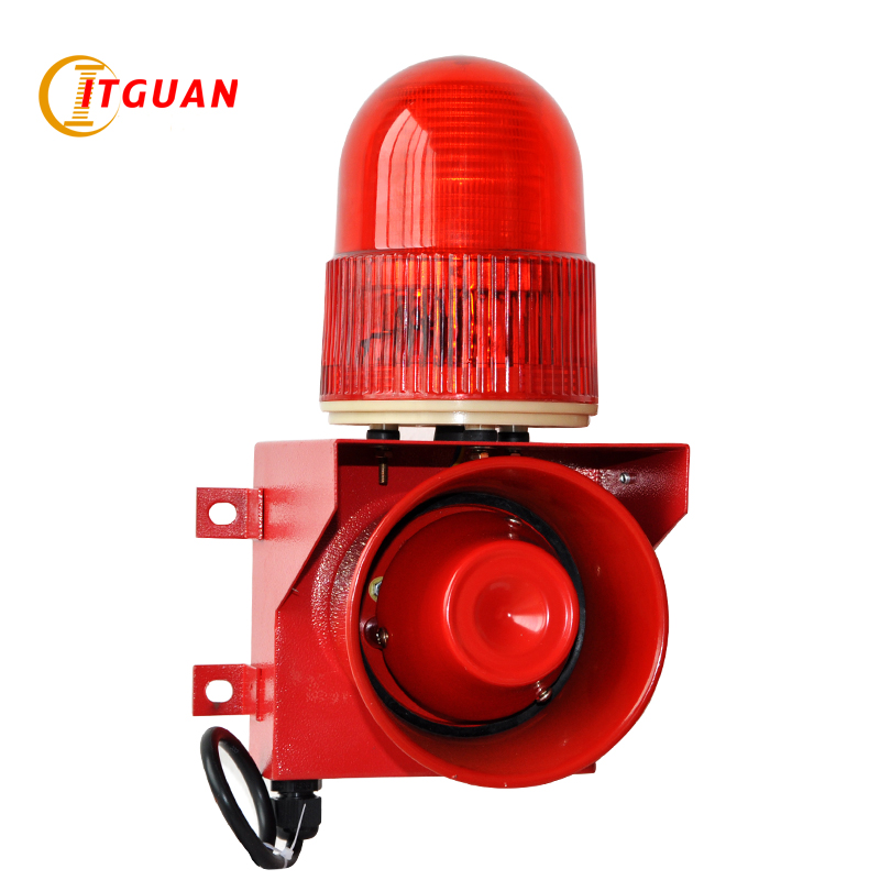 Купить с кэшбэком TGSG-01 Sound and light alarm  115dB one tone can customized your voice  siren safety alarm Industrial alarm kit flashing light