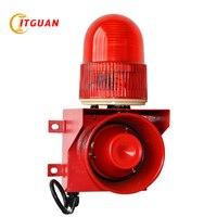 TGSG 01 звуковой и световой сигнализации 115dB один тон можно настроить ваш голос сирены безопасности сигнализации промышленных комплект сигнал