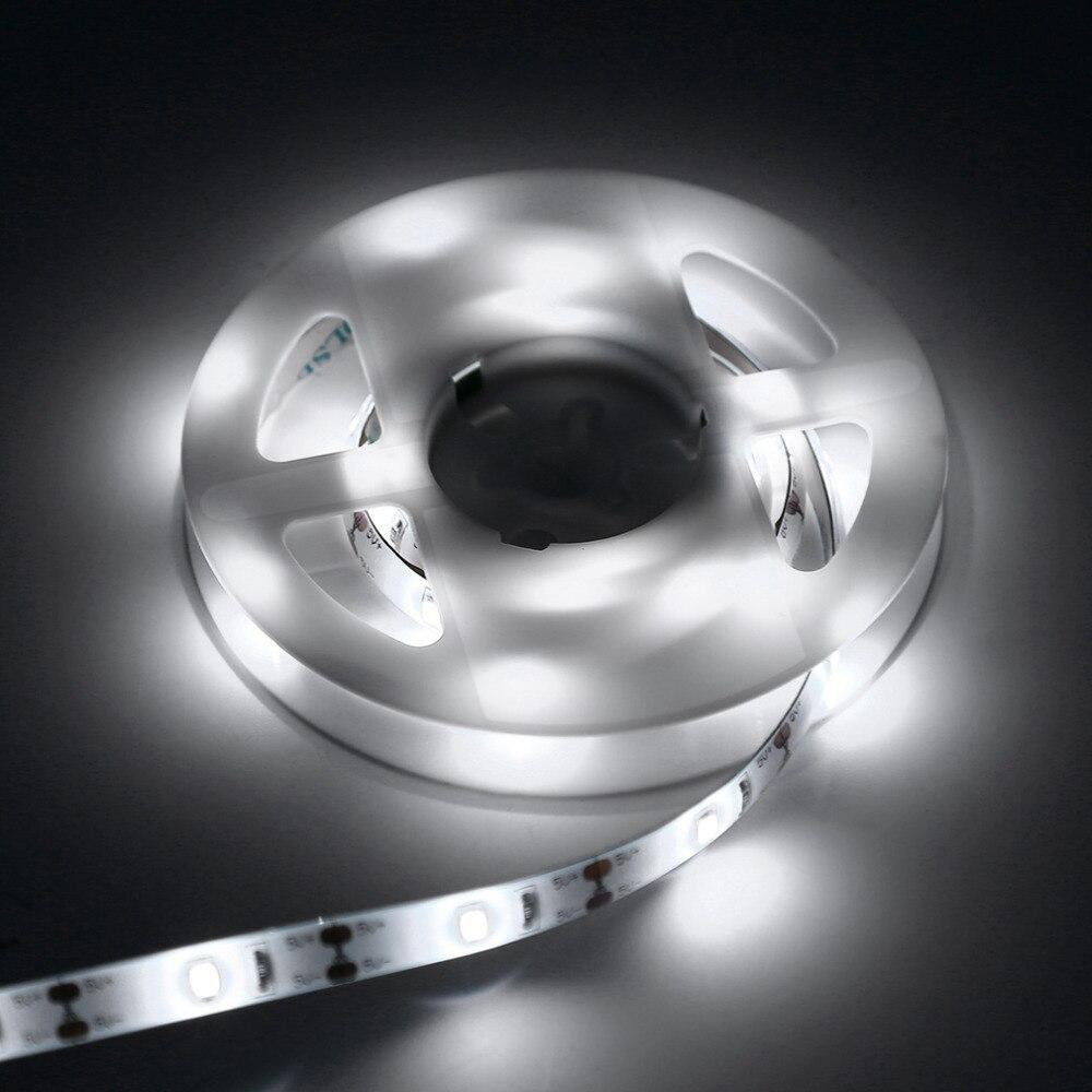 Новые 1 м 30led Водонепроницаемый движения led Сенсор полосы света нейтральный белый/теплый белый человека Средства ухода за кожей Сенсор огни
