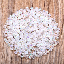 Transparent AB 100pc 4mm Austria Crystal Bicone Beads 5301 Charm Glass Bead for Jewelry Making S-27(China)