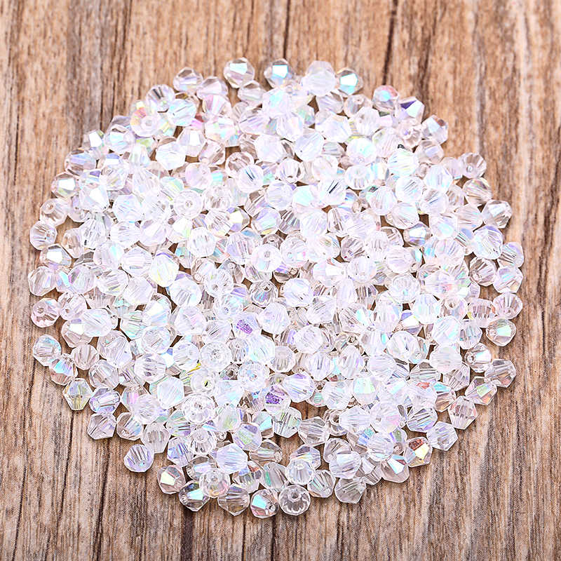 Transparent AB 100pc 4mm Austria Crystal Bicone Beads 5301 Charm Glass Bead for Jewelry Making S-27