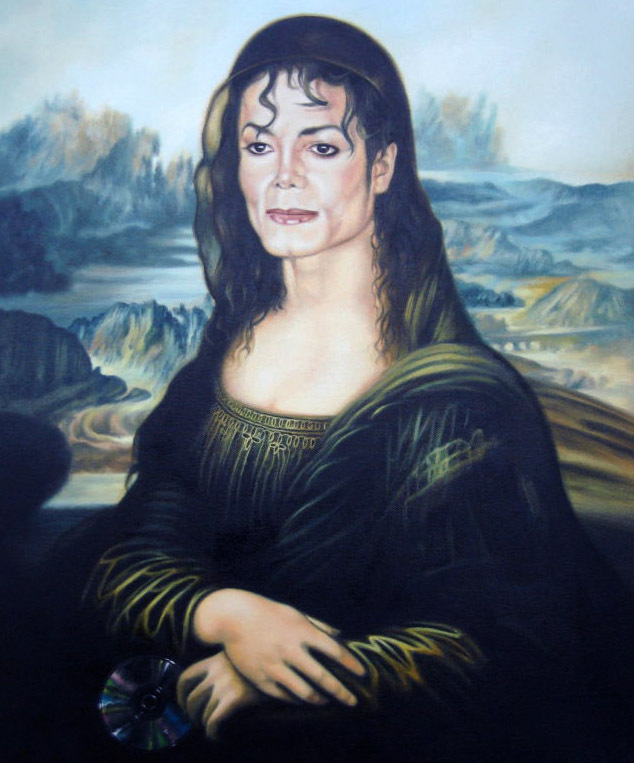 Michael Jackson in The Body of Mona Lisa Hand Painted