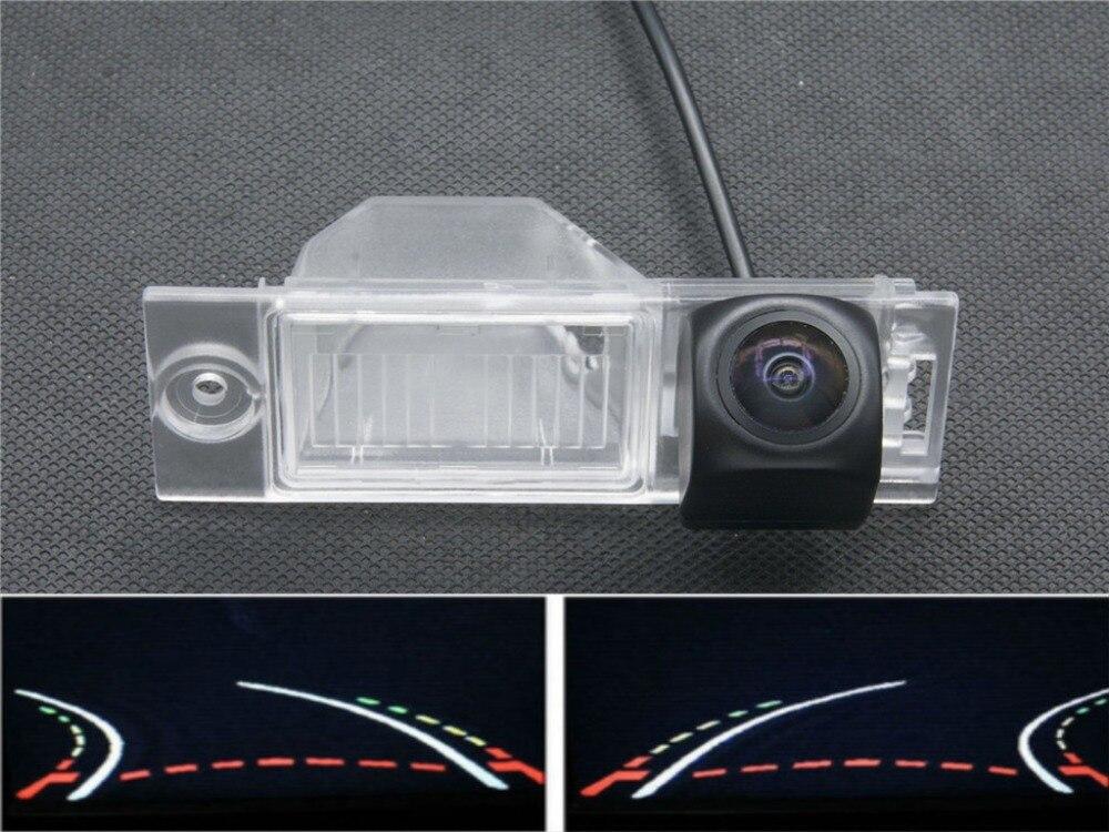 Trajectory Tracks 1080P Fisheye Car Parking rear view camera for Hyundai new Tucson IX35 2015 2016 BackUp Car Reverse Camera