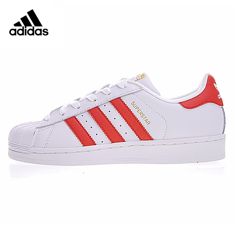 Adidas Sneakers Originals Red Stripe Men Lace-up Sports Skateboarding Shoes Low-tops Genuine Adidas Sneakers for Men lace up stripe spliced straight leg boxer shorts for men