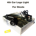 4th Auto Ghost Shadow Lamp Car logo Light Emblem Laser Door Bulb 12V 10W Octavia/Fabia/Superb/Roomster/Yeti