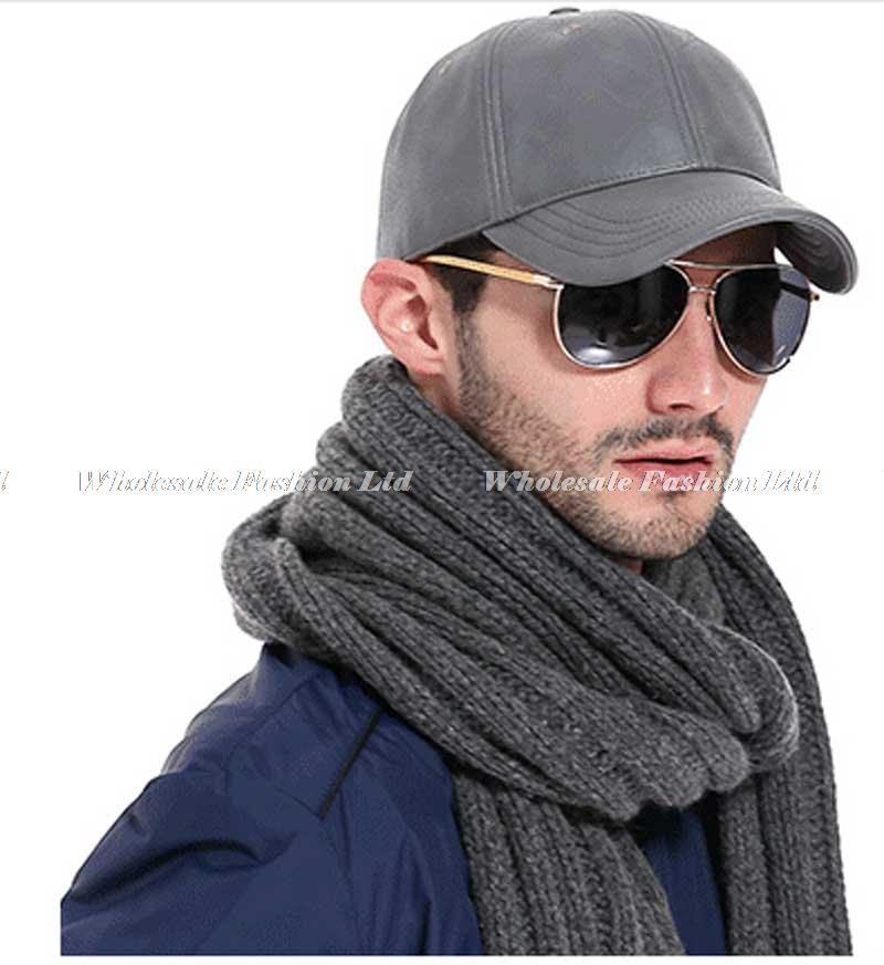 Wholesale 3pcs Mens Brand PU Baseball Caps Fashion Solid Black Faux Leather  Ball Cap For Men NEW Grey Strapback Baseball Hat 565b3e68388
