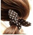 10 unids/lote 2016 goma para el Pelo de Las Mujeres/Niñas Accesorios Scrunchy Elástico Cintas Para el Pelo orejas de Conejo Tocado acessorios para cabelo