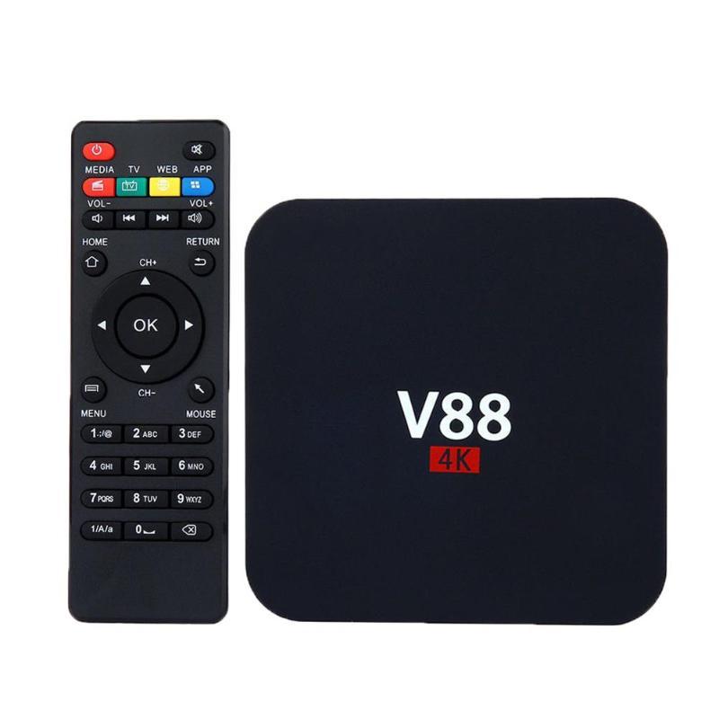 все цены на ALLOYSEED V88 Android 7.1 Smart TV Box 4K Ultra HD RK3229 Quad Core 1GB+8GB WIFI Media Player Set-top Box US Plug онлайн
