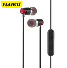 Naiku Спорт Bluetooth устойчивое наушники беспроводные наушники с микрофоном звук стерео магнит притяжения наушники для спорта бег