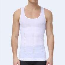 2017 New Men Slimming Body Shaper Belly Fatty Underwear Vest Shirt Corset Compression Tank Top Z1