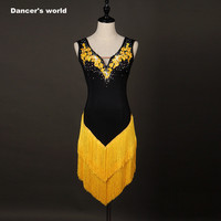 Rumba Cha Cha Dance Dress Ballroom Dance Dress Latin Dance Dress Women Dance Clothes Embroidery Dance