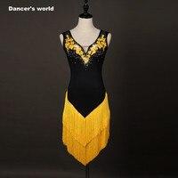 Rumba Cha Cha Dance Dress Ballroom Dance Dress Latin Dance Dress Women Dance Clothes Embroidery Dance