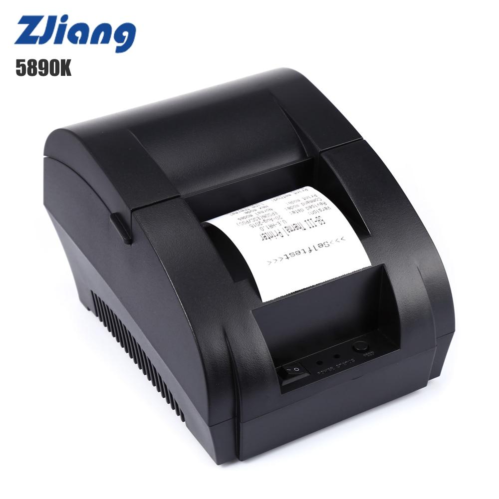 ZJ-5890K 58 mm Thermische Priter USB-poort ECS POS-bondrukmachine 70 mm / s 203 DPI voor supermarkt PK H58