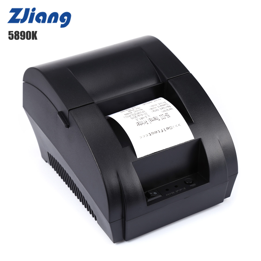 ZJ-5890K 58mm Thermal Priter USB Port ECS POS Receipt Printing Machine 70mm/s 203DPI For Supermarket PK H58