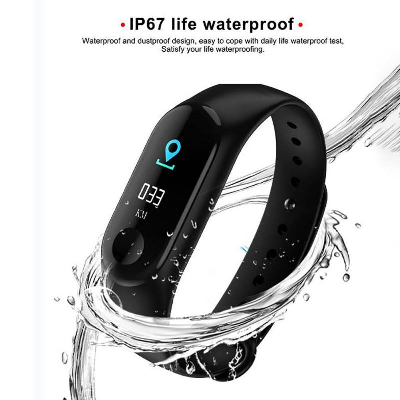 Smart Wristband Bracelet Band Heart Rate Blood Pressure Monitor Smart Bracelet Touch Screen Pulse Step Time Watch Battery 110mAh image